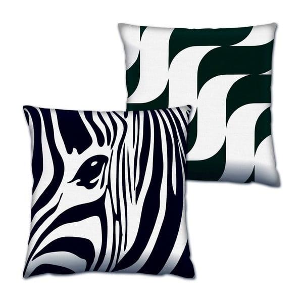 Zebra párnakészlet, 2 részes, 43 x 43 cm