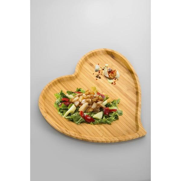 Amor előételes bambusz tál, 27 cm - Bambum