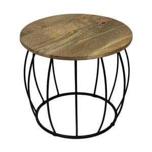 Crown kisasztal mangófa asztallappal, Ø 40 cm - HSM collection
