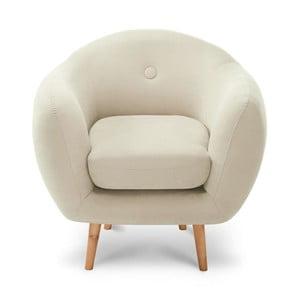 Krémszínű fotel - Scandi by Stella Cadente Maison