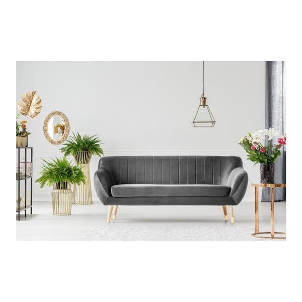 Benito szürke háromszemélyes kanapé - Mazzini Sofas