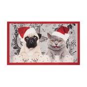 Christmas Cat and Dogs lábtörlő, 45 x 75 cm - Hanse Home