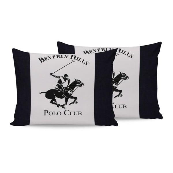 Polo Club Dark pamut párnahuzat, 2 darabos szett, 50 x 70 cm