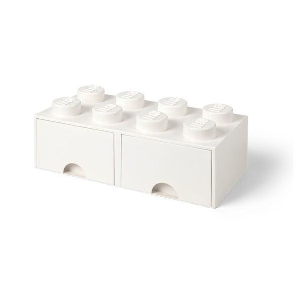 Fehér 2 fiókos tárolódoboz - LEGO®