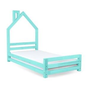 Dětská tyrkysová postel z smrkového dřeva Benlemi Wally,120x200cm
