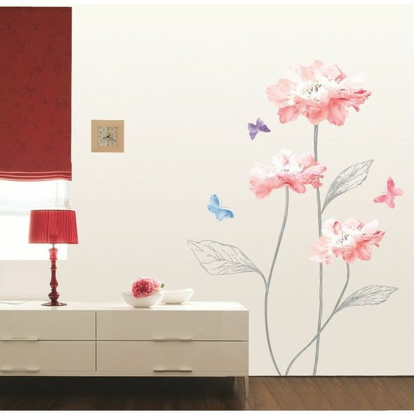 Light Pink Flowers And Butterflies falmatrica - Ambiance