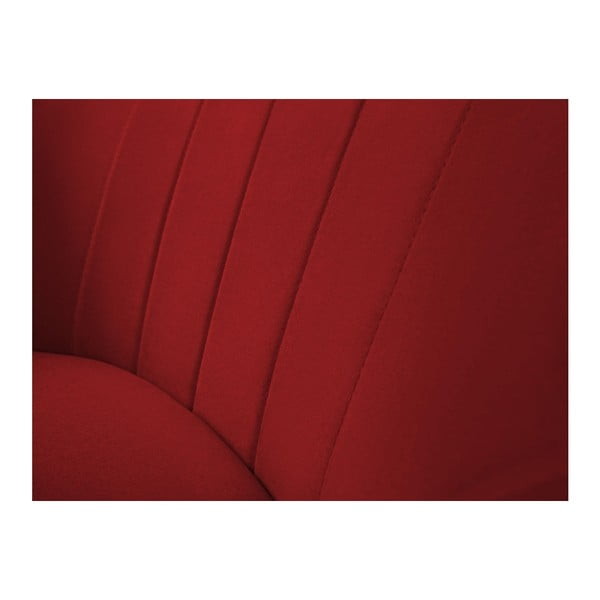 Sardaigne piros fotel világos lábakkal - Mazzini Sofas