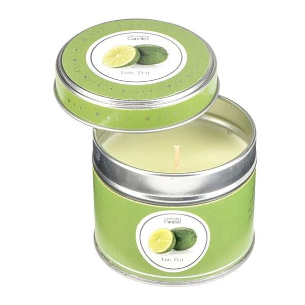 Gyertya fémdobozban lime illattal, 32 óra égési idővel - Copenhagen Candles