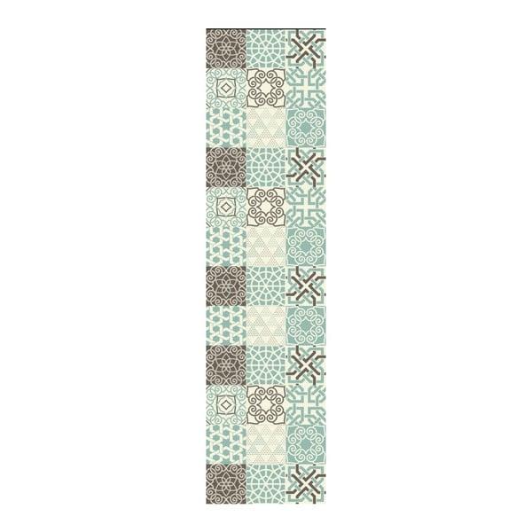 Turquesa vinil szőnyeg, 180 x 50 cm - Huella Déco