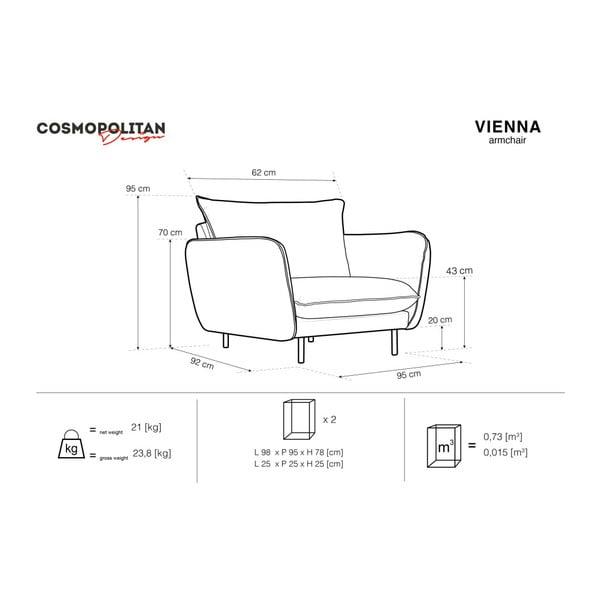 Vienna sötétkék fotel - Cosmopolitan Design