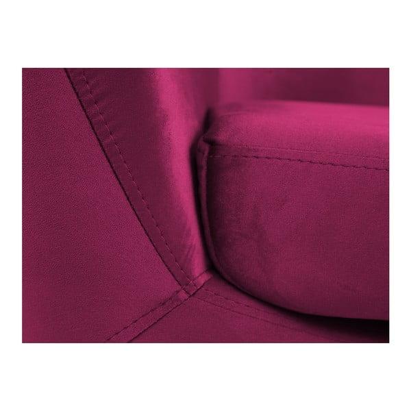 Amelie rózsaszín fotel fekete lábakkal - Mazzini Sofas