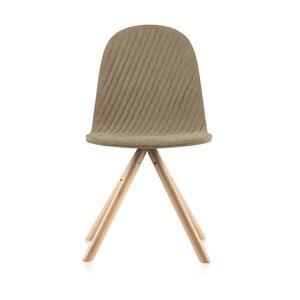 Mannequin Stripe bézs szék, natúr lábakkal - Iker