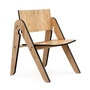 Lilly's Moso-bambusz gyermekszék fekete elemekkel - We Do Wood
