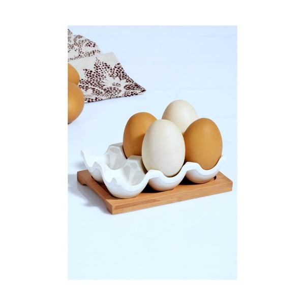 Kosova porcelán tojástartó, 10,5 x 15 x 4 cm