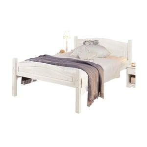 Barney fehér, tömör fenyőfa ágy, 90 x 200 cm - Støraa