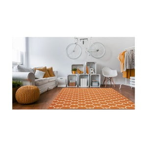 Trellis narancssárga fokozottan ellenálló szőnyeg, 133 x 190cm - Floorita