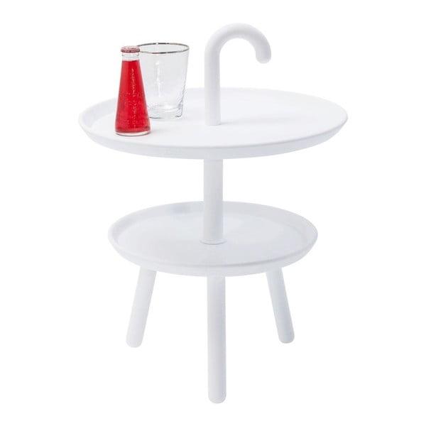 Jacky fehér tárolóasztal, ⌀42cm - Kare Design
