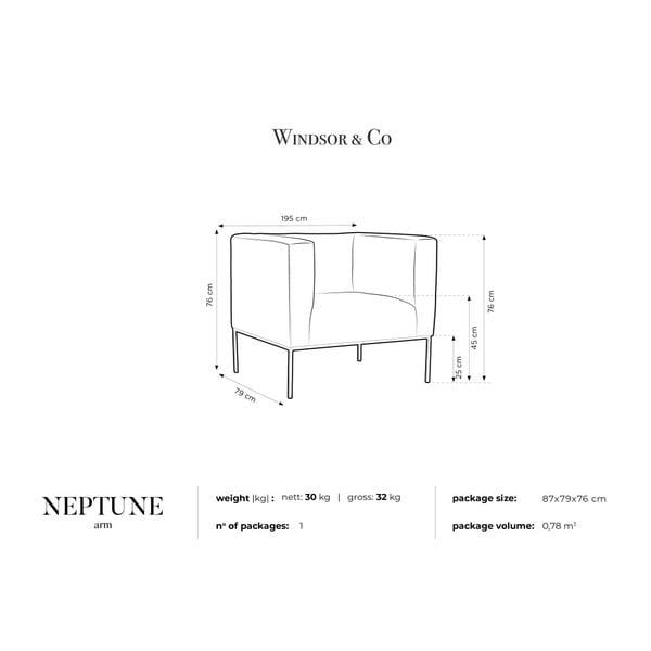 Neptune bézs bársonyfotel - Windsor & Co Sofas