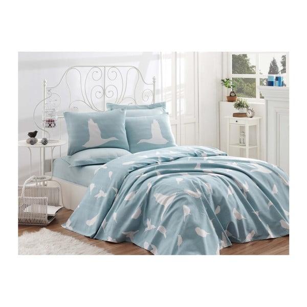 Single Pique Mint pamut ágytakaró kétszemélyes ágyra, 200 x 235 cm