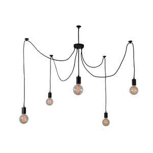 Spider Lamp fekete 5 ágú mennyezeti függőlámpa - Filament Style