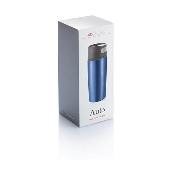 Leak kék autós thermo bögre, 400 ml - XD Design