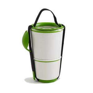 Lunch Pot fehér-zöld ételhordó doboz - Black+Blum