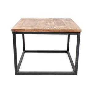 Box fekete dohányzóasztal mangófa asztallappal - LABEL51