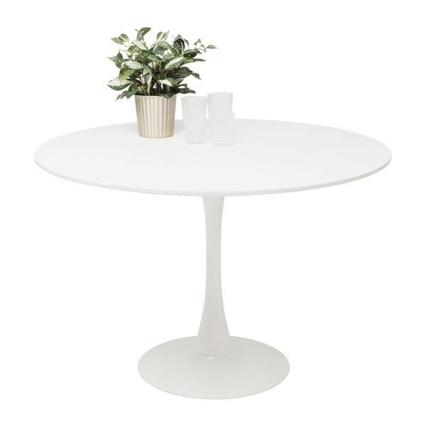 Schickeria fehér étkezőasztal fa lappal, ⌀ 110 cm - Kare Design