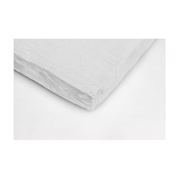 Fehér egyszemélyes mikroplüss lepedő, 90 x 200 cm - My House