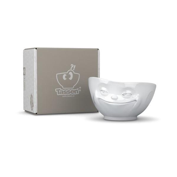 Fehér 'mosolygós' tálka - 58products