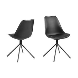 Černá jídelní židle Actona Dima