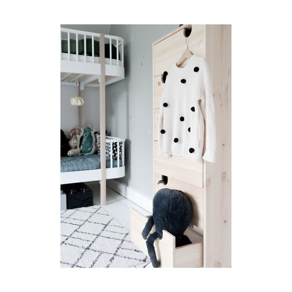 House Natural/White komód, 6 fiókkal - Karup Design