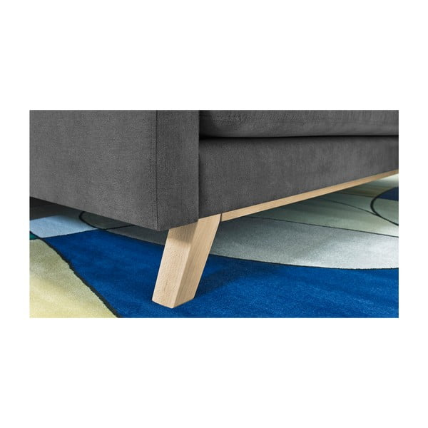 Triplo fekete háromszemélyes kinyitható kanapé - Bobochic Paris