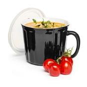 Fekete leveses bögre, 500 ml - Sagaform