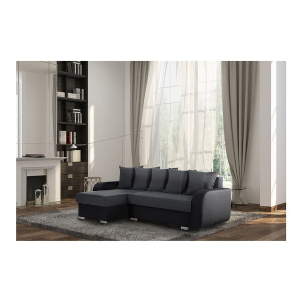 Destin antracit-fekete kanapé, bal oldalas - Interieur De Famille Paris