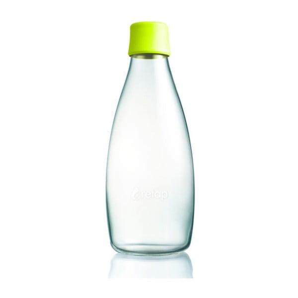 Citromsárga üvegpalack élettartam garanciával, 800ml - ReTap