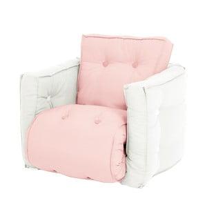 Mini Dice halvány rózsaszín kinyitható gyermek fotel, natúr vázzal - Karup