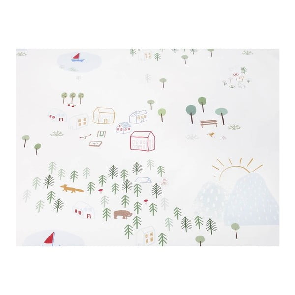 Maps gyerek pamut ágyneműhuzat garnitúra, 90x120cm - Mumla