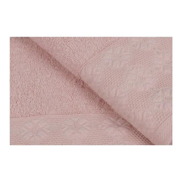 Provence 2 darabos dusty rose rózsaszín törölköző szett, 90 x 50 cm