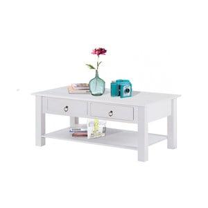 Inda fehér dohányzóasztal fenyőfából - Støraa