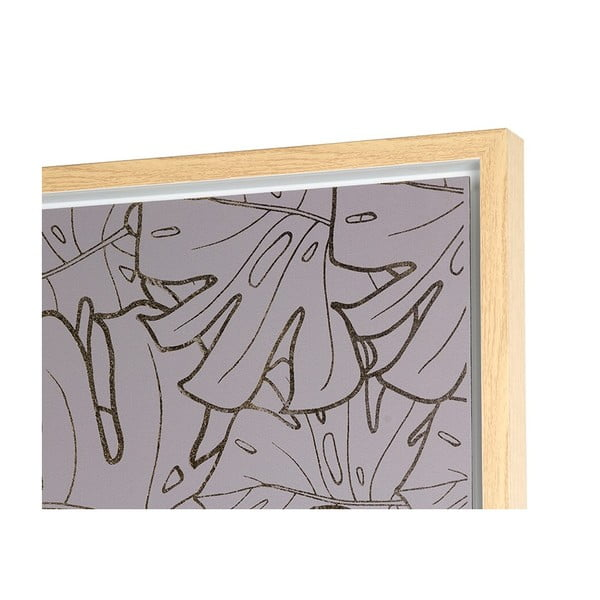 Gray Leaves falikép, 104 x 104 cm - Santiago Pons