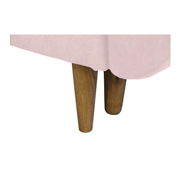 Rose rózsaszín kinyitható kanapé, világos lábakkal - Mazzini Sofas