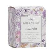 Lavender levendula illatú illatgyertya, égési idő 15 óra - Greenleaf