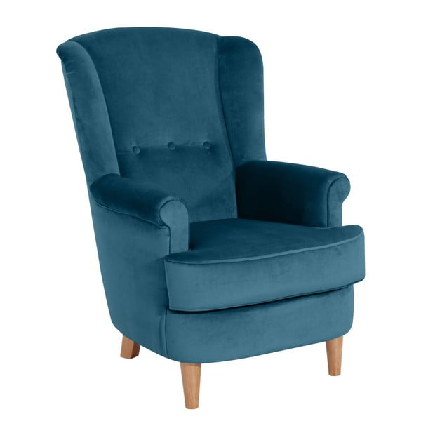 Kendra Velvet petróleum kék füles fotel - Max Winzer