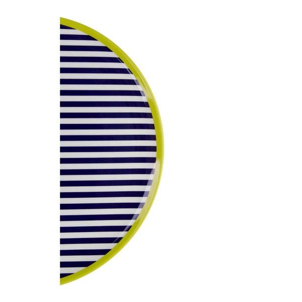 Mimo fekete-fehér csíkos tányér, ⌀ 25 cm - Premier Housewares