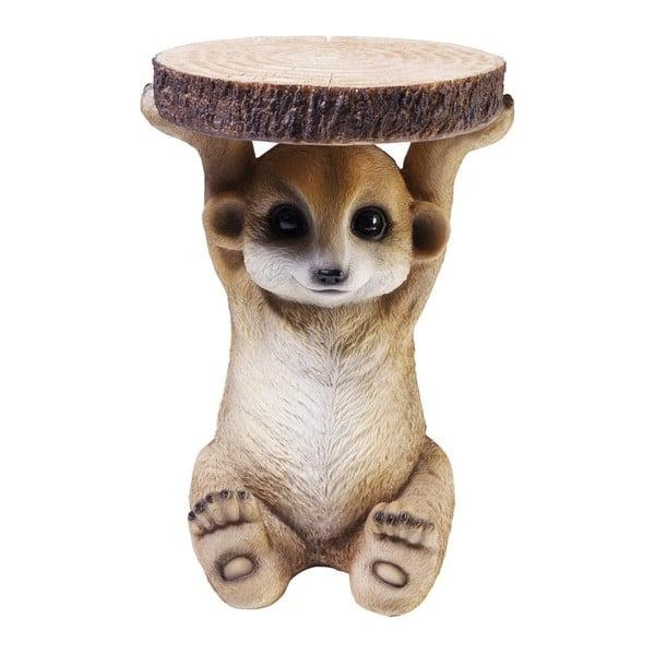 Mongoose állat alakú tárolóasztal, ⌀ 35 cm - Kare Design