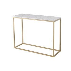 Accent márvány konzolasztal bronzszínű vázzal, magasság 75 cm - RGE
