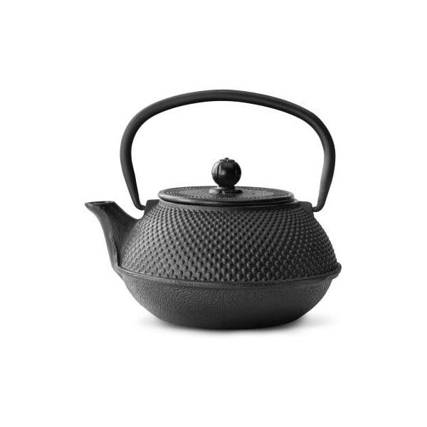 Jang fekete öntöttvas teáskanna szűrővel, 800 ml - Bredemeijer