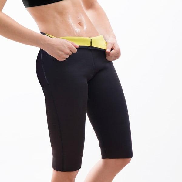 Fekete sportos legging szauna hatással, méret M - InnovaGoods