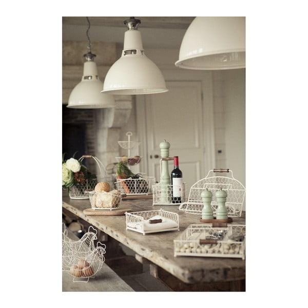 Provence fehér fémkosár, 29 x 21 cm - T&G Woodware
